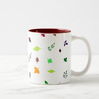 Leaf and Green Two-Tone Coffee Mug