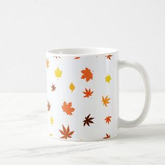 leaf and Maple Classic White Coffee Mug