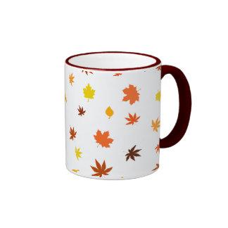leaf and Maple Ringer Mug