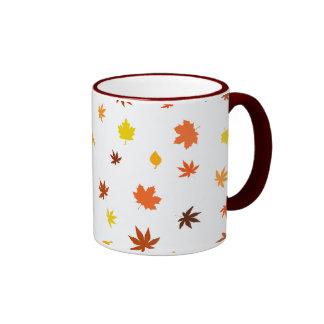 leaf and Maple Ringer Coffee Mug
