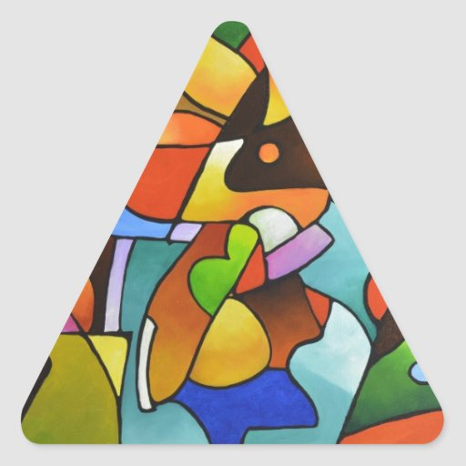 Leaf and Vase Triangle Sticker