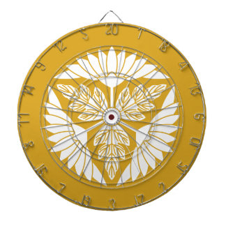 Leaf attaching chrysanthemum car dart board