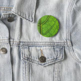 Leaf Badge 2 Inch Round Button