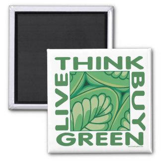 Leaf Design Square Magnet