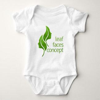 Leaf Faces Concept Baby Bodysuit