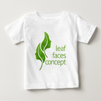 Leaf Faces Concept Baby T-Shirt