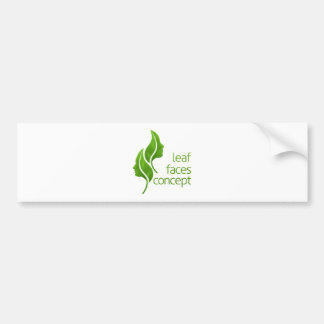 Leaf Faces Concept Bumper Sticker
