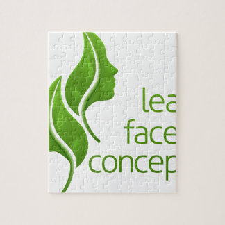 Leaf Faces Concept Jigsaw Puzzle