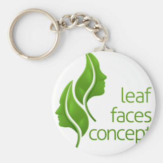 Leaf Faces Concept Keychain
