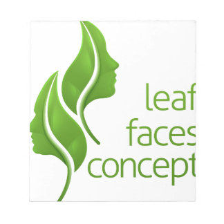 Leaf Faces Concept Notepad