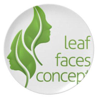 Leaf Faces Concept Plate