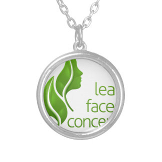 Leaf Faces Concept Silver Plated Necklace