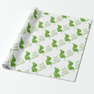 Leaf Faces Concept Wrapping Paper