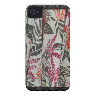 Leaf Flowers Fabric Dress pattern template diy fun iPhone 4 Case