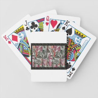 Leaf Flowers Fabric Dress pattern template diy fun Poker Deck