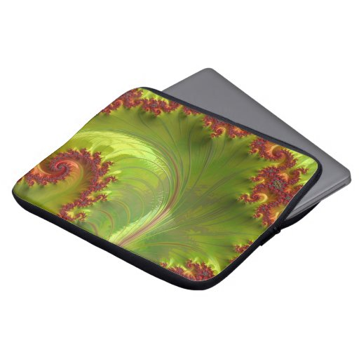 Leaf Green Fractal Laptop Sleeve