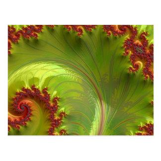 Leaf Green Fractal Post Card