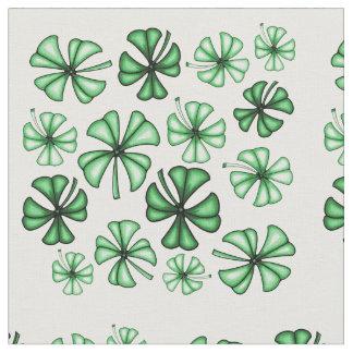 Leaf-Green Lucky Shamrock Clover Fabric