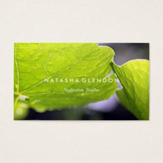 Leaf Green Nature Zen Business Card