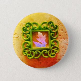 Leaf in a Frame 2 Inch Round Button