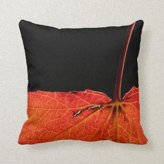 Leaf in autumn throw pillow
