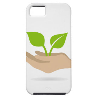 Leaf in hands iPhone 5 cases