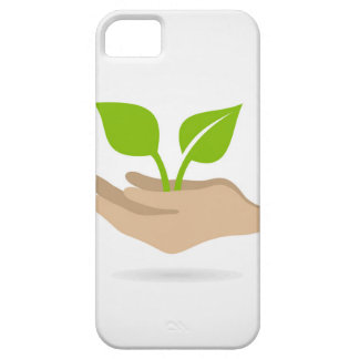 Leaf in hands iPhone 5 covers