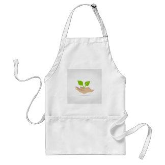 Leaf in hands standard apron