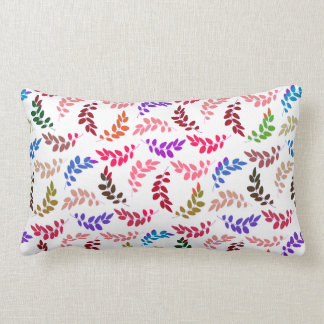 Leaf it to Me Colorful Leaf Pattern Pillow