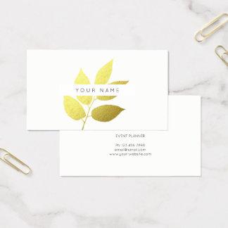 Leaf Laurel Eco Botanic Greenery Green White Business Card