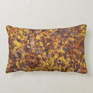 Leaf litter double sided lumbar cushion