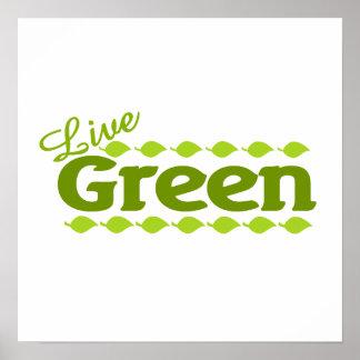 leaf live green poster
