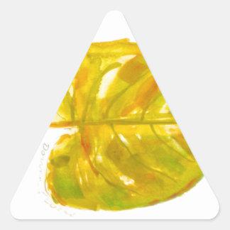 Leaf Logo Triangle Sticker