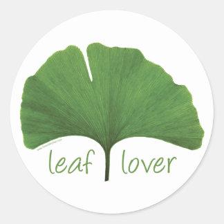 Leaf Lover Tree Hugger Classic Round Sticker
