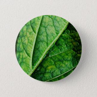 Leaf Macro 2 Inch Round Button