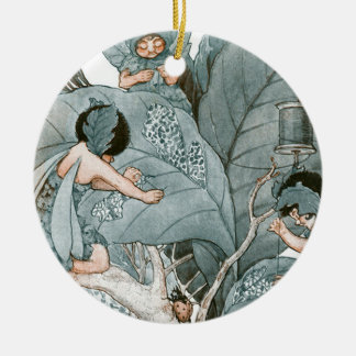 Leaf Maker Fairies Ceramic Ornament