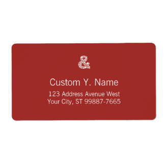 Leaf Mosaic White Textured Ampersand Shipping Label