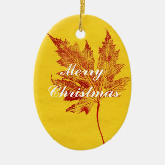 Leaf Nature Print Ornament