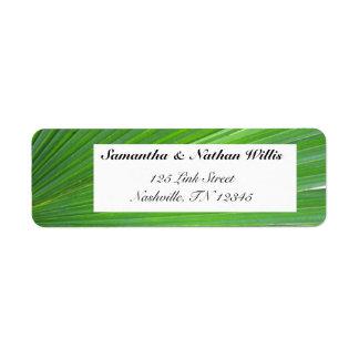 Leaf of Palm Tree Return Address Label
