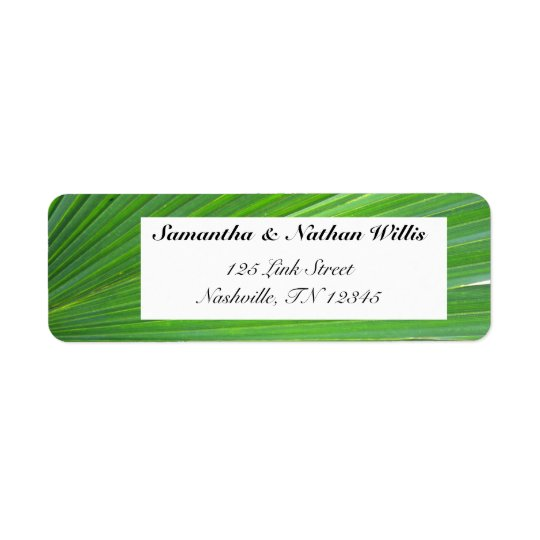 Leaf of Palm Tree Return Address Label