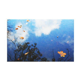 Leaf on Water Canvas Print