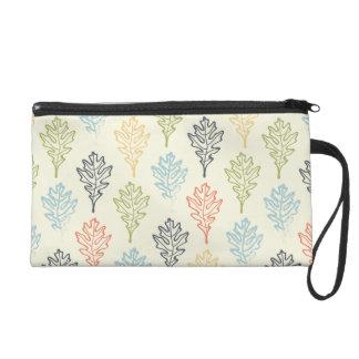 Leaf Pattern Bag Wristlets