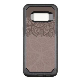 Leaf pattern border and background OtterBox commuter samsung galaxy s8 case
