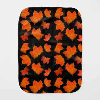 Leaf Pattern Halloween Burp Cloth