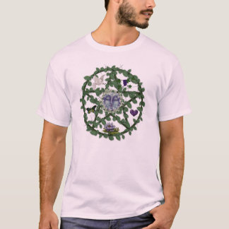 Leaf Pentagram With Moon T-Shirt