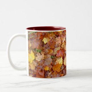 'Leaf Pile' photo mug