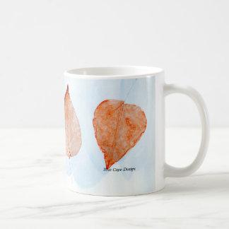 Leaf Print Coffee Mug