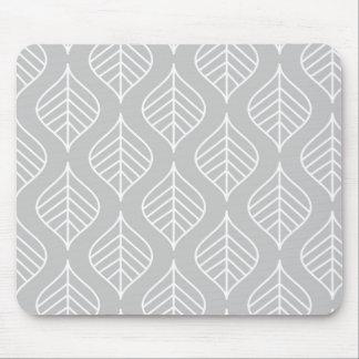 Leaf Print Mousepad - Grey