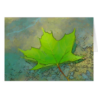 Leaf Scapes Maple Greeting Card