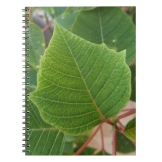 Leaf sheet spiral photo note book